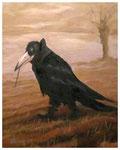 """""""Mystischer Rabe""""  30 x 24 cm (verkauft)"""
