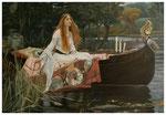 """""""The Lady of Shalott"""" nach William Waterhouse 70 x 100 cm (unverkäuflich)"""