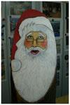 """""""Weihnachtsmann I"""" auf Holzstamm (verkauft)"""
