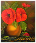 """Mohnblumen""  60 x 50 cm (verkauft)"