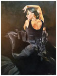 """""""Flamenco schwarz""""  40 x 30 cm"""