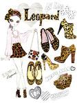 あいらぶ Leopard shose