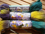 """Opal Handgefärbt aus der Serie """"lasst Blumen sprechen"""""""
