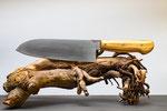 1.026 Santoku Küchenmesser aus 1.4034, Griffschale aus Olivenholz
