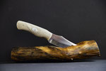 1.018 Klinge aus 1.2842,Griffschale aus Kamelknochen, Scrimshaw Drachenauge