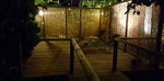 il giardino zen ai piedi di un noce secolare; quì faremo parte degli esercizi