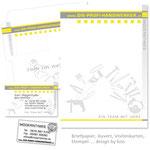Briefpapier, Kuvert, Visits, Stempel