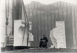 Sculpture Fontaine en marbre de Carrare - 1989