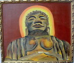 Buddha mit Rahmen 70cm x 60cm   Preis a.A.