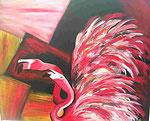 Flamingos 100cm x 120 cm   Preis a.A.