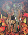 Elefant mit Kind   Preis a.A.