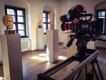 Dreharbeiten im Antikenmuseum mit Slider und Sony F5