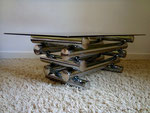 Table basse chrome design italien dlg Willy Rizzo