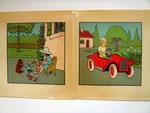 Chromolithographie vintage pour frise chambre d'enfant