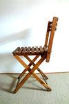 Petites chaises en bois pliantes adulte/enfant vintage