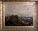 Dipinto ad olio su tela - firmato Cheruit - misure dipinto:  cm 73 X 98 - cornice dorata a foglia oro: cm. 99 X 126 - Prezzo: contattare