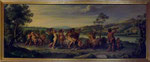 Antiques Oil painting on canvas. Mythological. Triumph of Bacchus and Ariadne. 1920/1930 approx - Antiquariato Dipinto olio su tela. Mitologico. Trionfo di Bacco e Arianna  Primi 1900 (dipinto tra il 1920/1929) Misure dipinto: cm 76,5X187