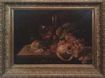 Antique oil painting on canvas of 1800 with ancient frame. still life. - Antico dipinto ad olio su tela del 1800 con cornice antica. Natura morta misure quadro cm. 39,5 x 49,8 misure cornice cm. 52 x 61,5