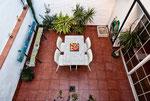 The patio / El patio