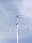 Antena tipo discono, para radioescucha.