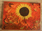 Acrylbild auf Leinwand/ Keilrahmen - Sonnenblume - 40 x 30 cm / Oktober 2016