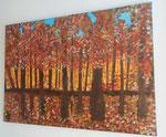 Herbstwald auf Leinwand/ Keilrahmen         verkauft / verschenkt