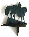 """""""Reiter"""", 2001, Sperrholz durchbrochen und Acrylfarbe, 52x39x18 cm"""