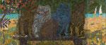 """An der Küste"", 1990, Öl auf Leinwand, 200x480 cm, Tretjakow- Galerie Moskau"