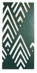 """""""Tapetenmuster"""", 2003, Sperrholz durchbrochen und Lackfarbe, 100x47 cm"""