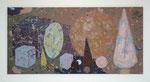 """""""Geometria"""", 1997, Öl auf Leinwand, 150x300 cm, Fachhochschule Kiel"""