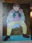 """""""Zorro"""", 1997,Öl auf Leinwand, 200x150 cm"""