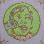 """Infant food"", 1991, Öl auf Leinwand, 50x50 cm"