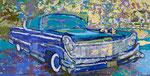 """car 1"" aus dem Projekt ""cars & girls"", 1992, 180x360 cm, Öl auf Leinwand"