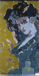 """girl 3"" aus dem Projekt ""cars & girls"", 1992, 180x90 cm, Öl auf Leinwand"