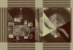 """Aus dem Projekt """"Russisch Brot"""" (zu Tolstoj), 2000, Box aus Pappe & Digitaldruck, Trockenes Brot, Größe variabel"""