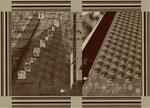 """Aus dem Projekt """"Russisch Brot"""" (zu Turgenew), 2000, Box aus Pappe & Digitaldruck, Trockenes Brot, Größe variabel"""