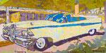 """car 3"" aus dem Projekt ""cars & girls"", 1993, 180x360 cm, Öl auf Leinwand"