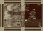 """Aus dem Projekt """"Russisch Brot"""" (zu Dostojewski), 2000, Box aus Pappe & Digitaldruck, Trockenes Brot, Größe variabel"""