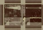 """Aus dem Projekt """"Russisch Brot"""" (zu Puschkin), 2000, Box aus Pappe & Digitaldruck, Trockenes Brot, Größe variabel"""