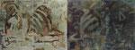 """""""День и Ночь"""",1990, масло, холст, из 4 холстов: общий размер 150x400 cm"""