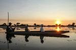 "Steffen Dörfel - ""Sonnenuntergang im Okavango-Delta"""