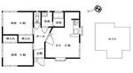 間取り図です。内覧時、室内にも間取り図を置いていますので、家具の配置などのメモにご活用ください♪