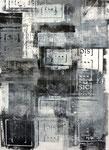 Ohne Titel, Monotypie und Linoldruck auf Papier, 70,0 x 50,0 cm, 2013