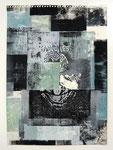 Ohne Titel, Monotypie und Linoldruck auf Papier, 47,5 x 34,0 cm, 2013