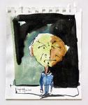 Seltsames Männchen, Tusche und Aquarell auf Papier (2010)