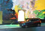 Blinder Bleck, 2015, Acryl auf Leinwand, 130 x 190 cm