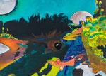 Meenz 5, 2014, Acryl auf Leinwand, 100 x 140 cm