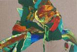 Knoten 3, 2015, Acryl auf Leinwand, 29 x 43 cm
