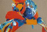 Knoten 2, 2015, Acryl auf Leinwand, 29 x 43 cm