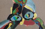Knoten 4, 2015, Acryl auf Leinwand, 29 x 43 cm